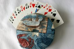 The Amazing Gripper Playing Card Holder! - Nautical design - pinned by pin4etsy.com
