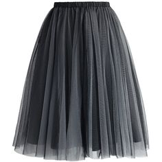 Chicwish Amore Mesh Tulle Skirt in Smoke (155 PLN) ❤ liked on Polyvore featuring skirts, bottoms, faldas, jupes, grey, gray skirt, elastic skirt, knee length tulle skirt, eyelet skirt and gray tulle skirt