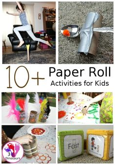 Fun and Easy To Do Paper Roll Activities Preschool Arts And Crafts, Creative Arts And Crafts, Art Activities For Kids, Craft Projects For Kids, Motor Activities, Easy Crafts For Kids, Simple Crafts, Activity Ideas, Kid Crafts