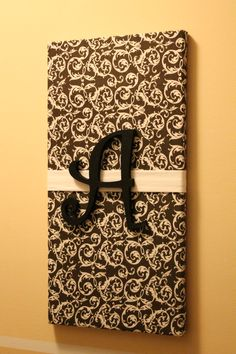 1000 images about fabric covered letters on pinterest for How to cover cardboard letters with fabric