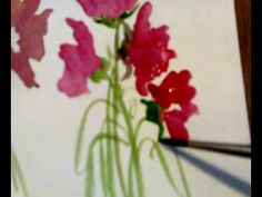 watercolor- flowers - YouTube