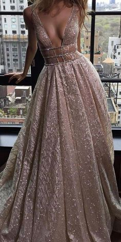 Custom Made Trendy Nude Wedding Dresses Sexy Ball Gown Wedding Dress Sequin Beaded Nude Vintage Wedding Dresses Backless Prom Dresses, A Line Prom Dresses, Sexy Wedding Dresses, Designer Wedding Dresses, Sexy Dresses, Beautiful Dresses, Long Dresses, Elegant Dresses, Dress Prom