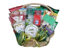 Golfer's Healthy Gift Basket for him