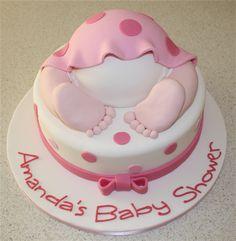 Amanda's Cakes and Invitations - Christening/Baby Shower Cakes- pink baby bum cake