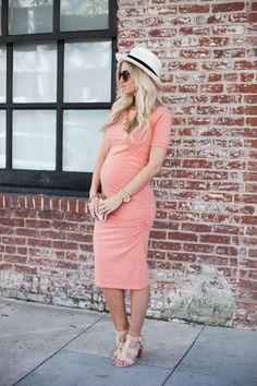 Ruched T Shirt Maternity Dress | Isabella Oliver