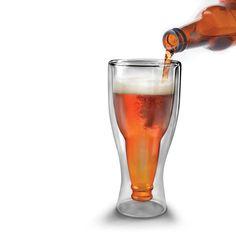 Hopside Down Double-Walled Upside Down Beer Soda Draft Glass