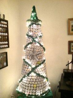 golf ball christmas tree