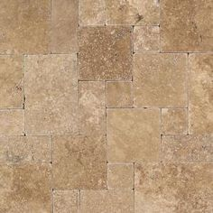 Daltile, Travertine Inca Brown Blended Paredon Pattern Natural Stone Floor and Wall Tile Kit (6 sq. ft. / kit), TS37PATTERN1P at The Home Depot - Mobile