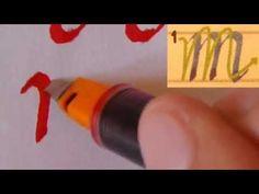Pilot Parallel Pen prueba - ITALIC Caligrafía (minúsculas) - YouTube