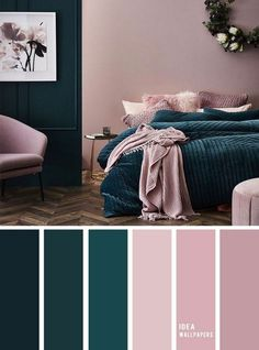 10 Best Color Schemes for Your Bedroom Deep ocean Teal Mauve , blush color palette, colo. 10 Best Color Schemes for Your Bedroom Deep ocean Teal Mauve , blush color palette, colour palette Best Color Schemes, Bedroom Color Schemes, Best Bedroom Colors, Decorating Color Schemes, Colour Schemes For Living Room, Diy Decorating, Colors For Bedrooms, Interior Design Color Schemes, Apartment Color Schemes