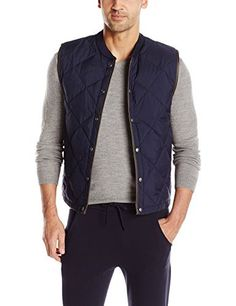 """Quilted vest lightly down-filled and finished with a ribbed collar.       Famous Words of Inspiration...""""Democracy is a process by which people are free to choose the man who will get the blame.""""   Laurence Peter — Click here for more from...  More details at https://jackets-lovers.bestselleroutlets.com/mens-jackets-coats/vests/product-review-for-vince-mens-quilted-down-liner-vest/"""