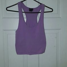 Crop Top  Razor back light purple crop top. hardly worn. great condition. Wet Seal size large. Wet Seal Tops Crop Tops