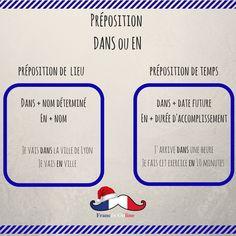On commence notre semaine de français avec les #prépositions « dans » et « en » : - Empezamos nuestra semana de francés con las #preposiciones « dans » y « en »: - We start our week of french with the « dans » and « en » #preposition: - #Français #Francés #French #Idioma #Language #Idiomafrancés #frenchlanguage #FLE #DELF #DALF #Hablarfrances #SpeakFrench #Aprenderfrances #Learnfrench #estudiarfrances #Studyfrench #cursodefrances #frenchclass #grammaire #grammar #gramatica