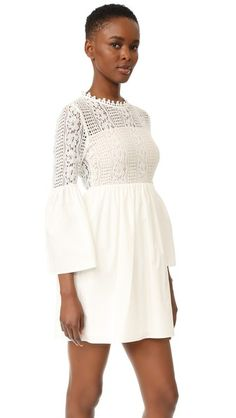 72304c4016f5 endless rose Long Sleeve All Over Lace Dress