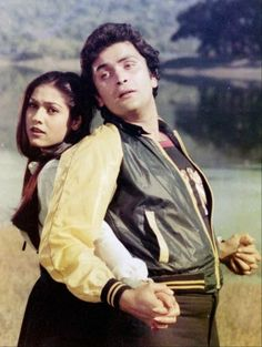 Tina Munim with Rishi Kapoor in Karz Randhir Kapoor, Rishi Kapoor, Henna, Indian Star, Vintage Bollywood, Hd Wallpapers For Mobile, Madhuri Dixit, Indian Celebrities, Bollywood Stars