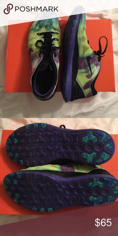 Nike galaxy Free 5.0 Excellent condition Nike Free 5.0 in multi-colored/galaxy-like print Nike Shoes Sneakers