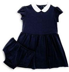 Ralph Lauren Baby's Two-Piece Collared Dress & Bloomers Set