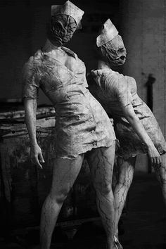 Love me some Silent Hill Nurses! I want to be this for a Halloween Costume Party!