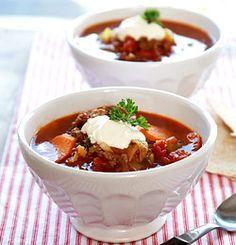 Rask suppe med kjøttdeig