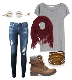 """""""Fall outfit"""" by brenna-mccarty on Polyvore featuring beauty, AG Adriano Goldschmied, Acne Studios, Steve Madden, Charlotte Russe and Sif Jakobs Jewellery"""