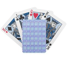 blue flashes bicycle playing cards