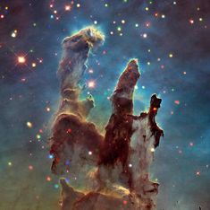 Pillars of Creation - 50 gorgeous photos of outer space - CBS News Nasa Juno, Juno Spacecraft, Spitzer Space Telescope, Eagle Nebula, Saturns Moons, Space Probe, Gas Giant, Dwarf Planet, Star Formation