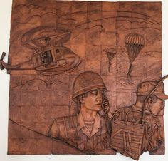 """Mural en honor Comunicaciones en casino de cadetes. Escuela Militar de Cadetes """"General José María Córdova"""" (ESMIC) del Ejército de Colombia. Bogotá- Colombia."""