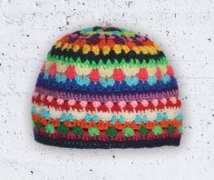 Colorful unique handmade hat...for her. By Durido