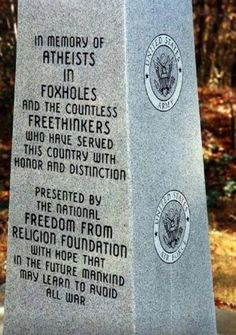 Beautiful. Atheists in foxholes.