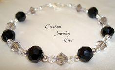 DIY Bracelet kit DIY Crystal Bracelet Kit DIY black от LovelyDawn