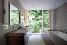 Restored 1969 Modern Glass House modern bathroom