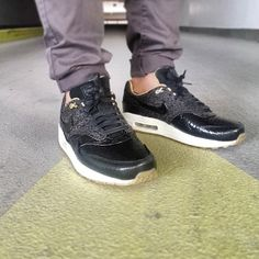 Air Max 1 FB Woven (Black Leopard)
