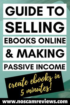 Find out a guid to make money selling ebooks online and making passive income! You can create an ebook in just 5 minutes with the method I show! Online Income, Online Earning, Earn Money Online, Online Jobs, Selling Online, Make Easy Money, Make Money Fast, Earn Money From Home, Make Money Blogging