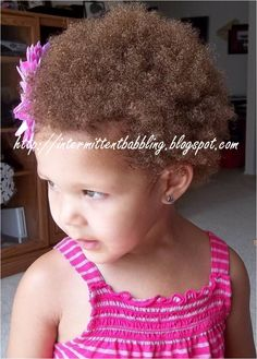 Toddler afro and flower clip