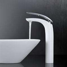 Design DVGW Bad Armatur Wasserhahn Mischbatterie Waschtisch Wasserfall Einhand