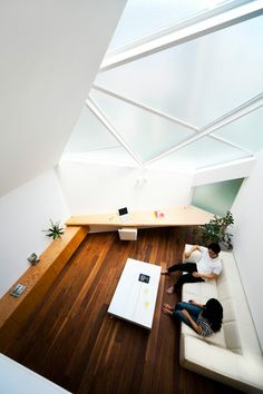 Tokyo house by Atelier Tekuto with skylight designed to frame the sky