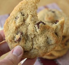 If you made this with Erythritol and dark chocolate chips, it could be keto. Almond Flour Chocolate Chip Cookies- gluten free if made with Enjoy Life chocolate chips. I also used coconut palm sugar instead of brown sugar. Almond Flour Cookies, Gluten Free Chocolate Chip Cookies, Almond Flour Recipes, Keto Cookies, Gluten Free Cookies, Chocolate Chips, Almond Flour Desserts, Almond Chocolate, Almond Flour Baking