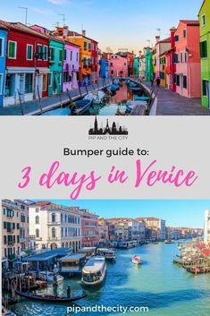 3 days in Venice is time enough to see some of the main highlights. Venice Travel Guide, Italy Travel Tips, Europe Travel Guide, Travel Destinations, Backpacking Europe, Greece Travel, Travel Guides, European Destination, European Travel