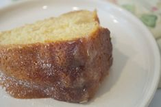 """This cake puts the phrase """"it's better with butter"""" to the test. Almond Wedding Cakes, Southern Potato Salad, Kentucky Butter Cake, Cake Recipes, Dessert Recipes, Cooking Panda, Dessert Cups, Loaf Cake, Yummy Treats"""