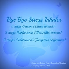Bye Bye Stress  Sign up your email to have Andrea deliver the weekly recipe to your inbox!