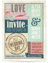Eclectic Wedding Invitations