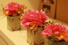 diy centerpieces with paper flower centerpieces - Google Search
