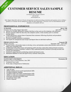 Customer Service Resume New Skills Pinterest Customer