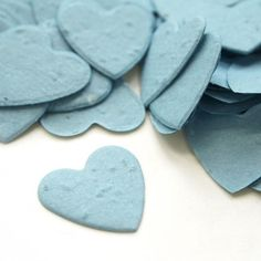 Heart Shaped Plantable Confetti in Cornflower Blue at Daisy Giggles