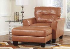 Paulie DuraBlend Orange Chair,Benchcraft