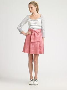 I am wearing this skirt today!  Love it.  Z Spoke by Zac Posen #style #fashion #shopping