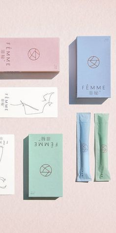 Sophisticated Feminine Hygiene Branding - These Tampons are Packaged in…
