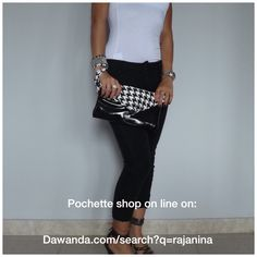 Shop online http://it.dawanda.com/search?q=Rajanina #pochette #pieddepoul #bag #bags #outfit #look #fashion #ecopelle