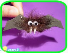 Halloween Hairy Bat Scout SWAPS Craft Kit- Swaps4Less
