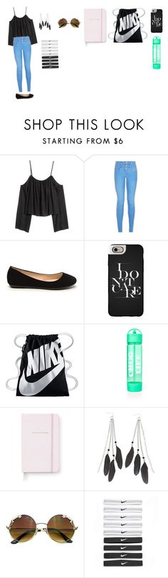 """""""Beautiful #me"""" by minionbaby22 ❤ liked on Polyvore featuring New Look, Casetify, NIKE, Kate Spade and Charlotte Russe"""